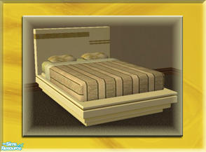 Sims 2 — A Luxurious Night\'s Sleep Bed Frame - Sunshine by terriecason — A bed frame recolor in sunshine yellow for the