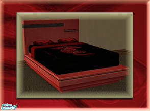 Sims 2 — A Luxurious Night\'s Sleep Bed Frame - Vampira by terriecason — A bed frame recolor in vampira red for the