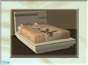 Sims 2 — A Luxurious Night\'s Sleep Bed Frame - Vanilla by terriecason — A bed frame recolor in vanilla for the luxurious