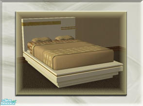 Sims 2 — A Luxurious Night\'s Sleep Bed Frame - White Gold 2 by terriecason — A bed frame recolor in white gold v2 for