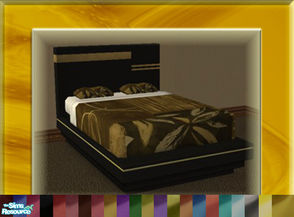 Sims 2 — A Luxurious Night\'s Sleep Bed Frame Set by terriecason — A variety of bed frame recolors of the luxurious