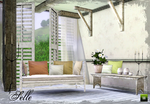 Sims 3 — Selle Living by n-a-n-u — A new living set inspired by Shabby Chic... I hope you like it!