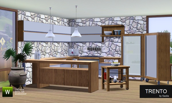 Sasilia 39 s kitchen trento part 1 for Sims 3 kitchen designs