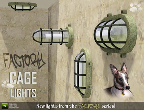 Sims 3 — Cage Lights by Cyclonesue — Another instalment in the Factory theme: four Cage lights for walls and ceilings -