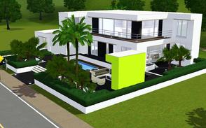 Sims 3 — contemporary resort living 1004 by Sophronis — Modern house, with nice exterior design and loads of glass to
