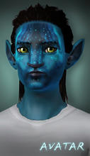 Sims 3 — Na'vi face mask (from Avatar) by senemm — A useful face mask to create your own Na'vis, it can be found at