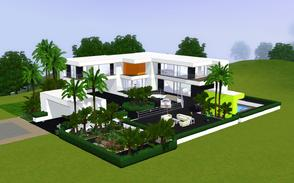 Sims 3 — Contemporary resort living 1005 by Sophronis — modern house with spectacular style and a whole road going in
