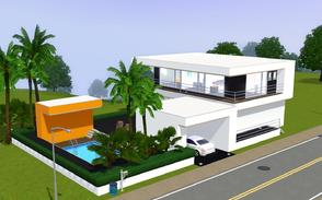 Sims 3 — contemporary resort living 1006 by Sophronis — modern house with a lovely design and a modern garage in the