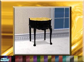 Sims 2 — Curvacious Colonial End Table Set by terriecason — A recolor set of the curvacious colonial end table available