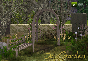 Sims 3 — Old Garden by sim_man123 — A set of new meshes to help create an old, run down, neglected garden. Contains
