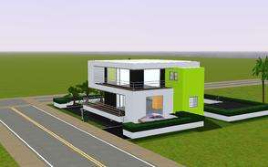 Sims 3 — Contemporary resort living 1007 by Sophronis — Modern house with fabulous external design with white and black