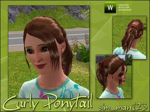 Sims 3 — Curly Ponytail by sim_man123 — New hair mesh, fully animated and has working root/base/tip/highlights.. Made by