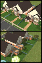 Sims 2 — Oak Lane by Lil-Kiki — This is the a little row of houses for those familys who like their own space but want to