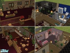 Sims 2 — Garden Greek Villa by maja89 — Beautiful villa for 4 students! It has two rooms with single bed (one for male