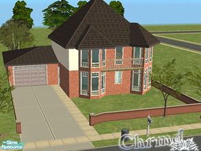 Sims 2 — English Townhouse with garage by Chrmd — Based on a house I pass regulary in my home town. There is another