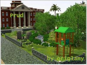 "Sims 3 — Prud by orig1amy — This squer from my new town, which named ""Fortuneless Island"""