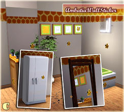 Sims 3 — Ambatia Bathroom Wall Sticker by carit — Enjoy!