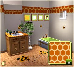 Sims 3 — Ambatia Bathroom Beehive Pattern by carit — Enjoy!