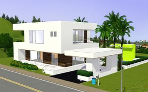 Sims 3 — Contemporary Resort Living 1008 by Sophronis — modern looking house, with really exceptional exterior design,
