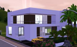 Sims 3 — Contemporary Resort Living 1010 by Sophronis — Modern house with delightful looking and a beautiful swimming