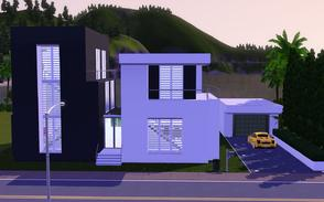 Sims 3 — Contemporary Resort Living 1011 by Sophronis — Modern house featuring nice level adjustments done to make the
