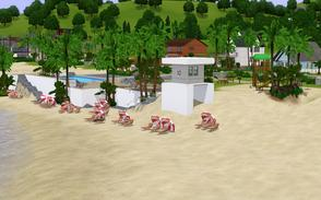 Sims 3 — At The Beac (Old Pier Replacement) by Sophronis — This is a total replacement of the Old Pier Beach locate in