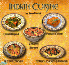 Sims 2 — Indian Cuisine set 3 by Simaddict99 — This third installment of my Indian Cuisine consists of: Butter Chicken,