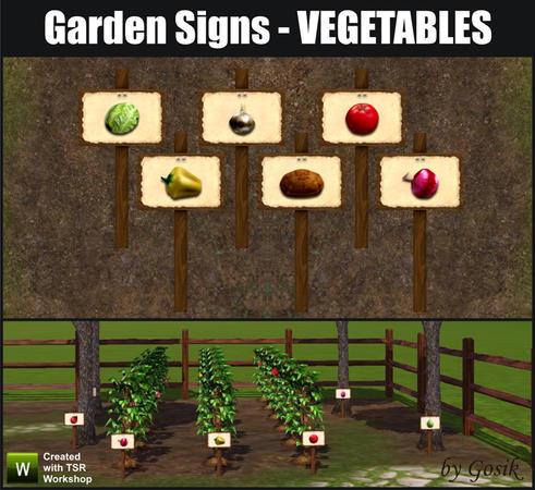 Gosik 39 S Garden Signs Vegetables Updated