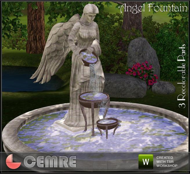 Cemre S Thyme Garden Collection Angel Fountain