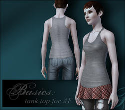 Sims 3 — A basic tank top for AF by flinn — A simple top that shows up in everyday, athletic and sleepwear categories.