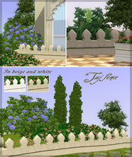 Sims 3 — Taj fence by senemm — An elegant indian/arabian style fence in beige and white.