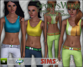 Sims 3 — S2S Sports Wear by sims2sisters — Sports Wear for adult female by Sims2Sisters