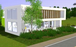 Sims 3 — Woody Glassy by Sophronis — Perfect little house enclosed by bamboo and plants. Features 3 bedrooms, large