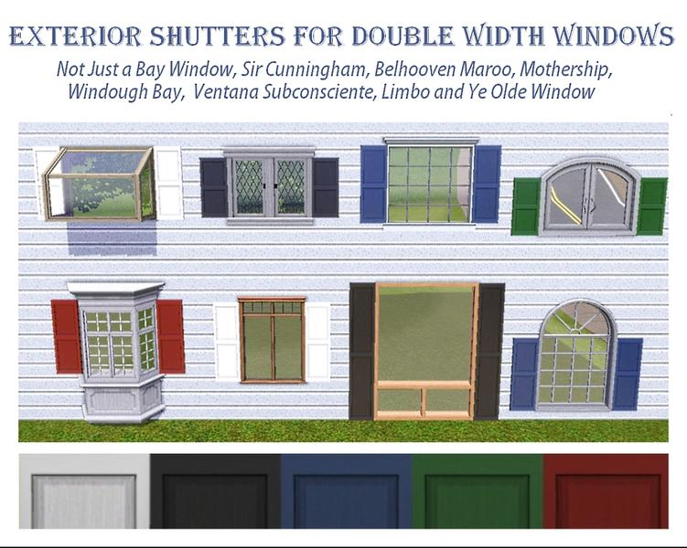dgandy\'s Exterior Shutters for Double Width Windows
