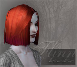 Sims 3 — Hairmesh f001 - smart bob by flinn — A brand new shiny hairmesh, my first for the Sims 3 in fact! The polycount