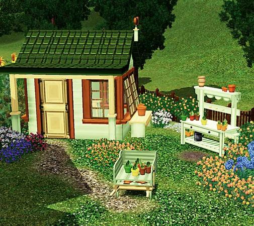 The Sims Resource Elegant Bathroom: Cashcraft's Victorian Garden Shed