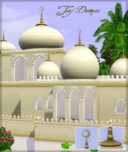 Sims 3 — Taj domes by senemm — A set of 8 different sized indian/arabian style domes in 2 shape variations.