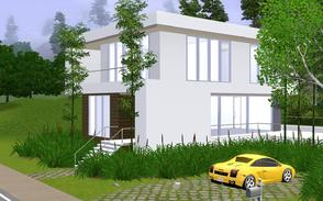 Sims 3 — Bamboo Living by Sophronis — Modern house imprisoned in endless bamboo and aspen trees and low bushes! Only the