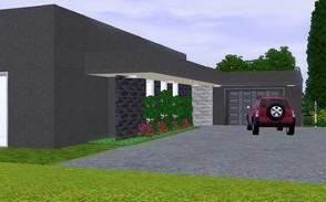 Sims 3 — Make an entrance by Sophronis — One story house featuring plenty of space to live and enjoy the pool as your