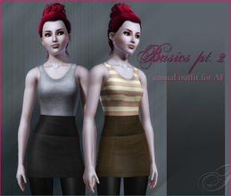 Sims 3 — Basics pt.2 - casual outfit for AF by flinn — An outfit for YA/AF with two colour channels (skirt and top).