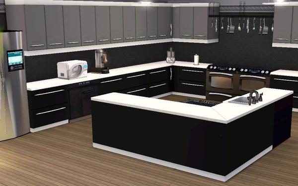 Xjxgetbornxtx31 39 s modern masterpiece for Modern kitchen sims 3