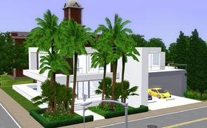 Sims 3 — Rectancubic by Sophronis — Modern house with loads of rectangulars and cubes consisting it, and a lovely pool