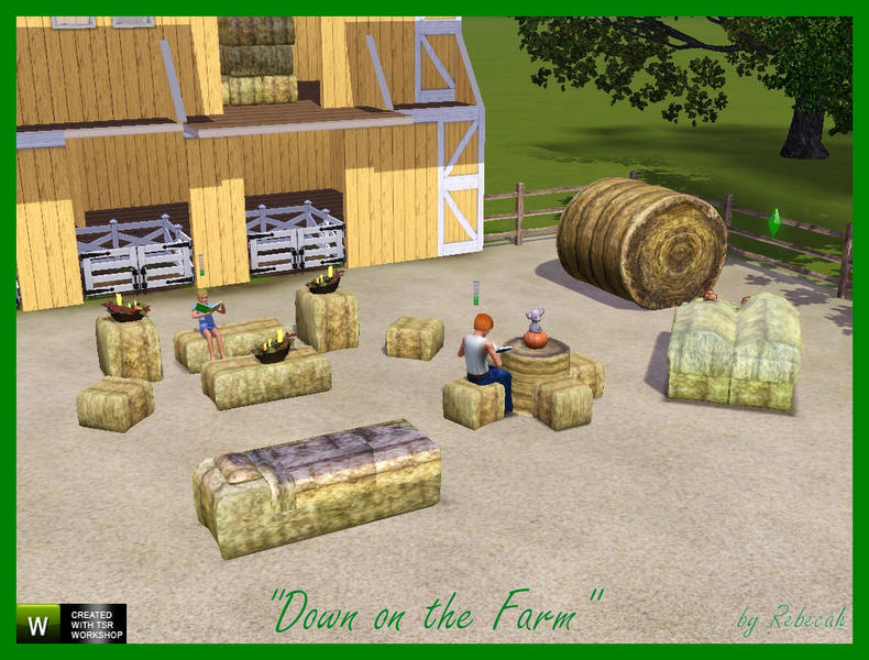 Rebecah S Down On The Farm Hay Bale Furniture