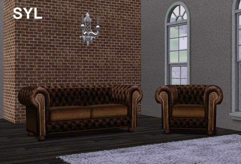 Eryt96 S Syl Chesterfield Sofa Set