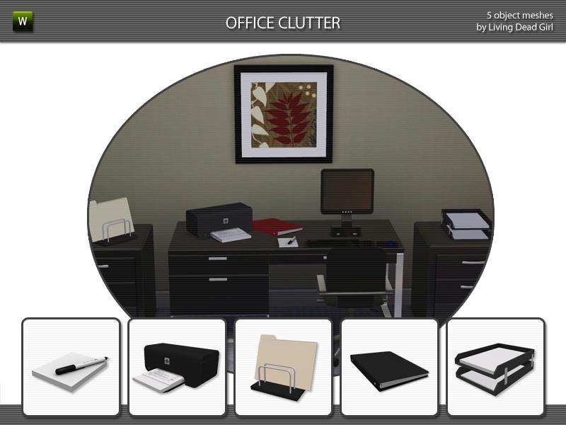 Living Dead Girl's Office Clutter