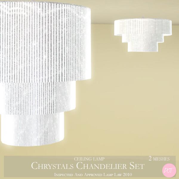 Dot S Chrystals Chandelier Lamp Set