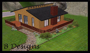 Sims 3 — B Designs 17 Lakeside House by littleb920 — B Designs 17 Lakeside House is a two bedroom one bathroom house. The