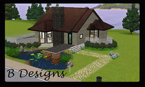 Sims 3 — B Designs 19 Pond View House by littleb920 — B Designs 19 Pond View House is the Perfect house for you Sims. Its