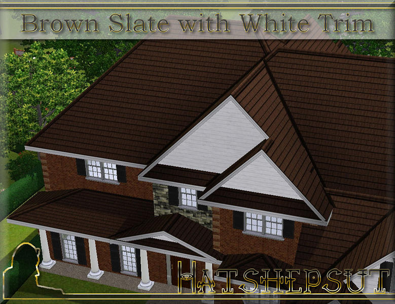 Hatshepsut 39 S Brown Slate Roof With White Trim