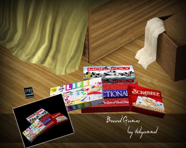 Tdyannd S Bedroom Clutter Board Games